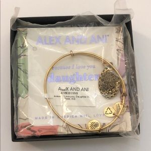 NWT Alex and ani because I love you daughter lilac